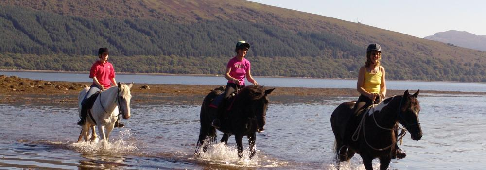 horse riding in Argyll