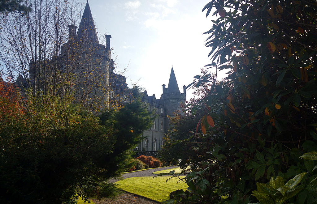 Castle and garden of Inveraray